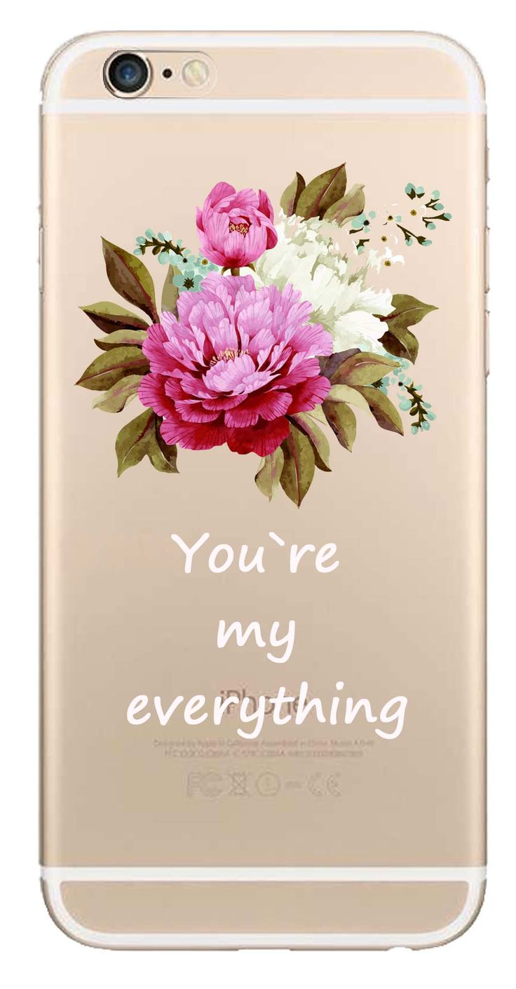 Whatskin DIY Style Color Drawing Flowers Series 07 Clear Back Cover for iphone 6