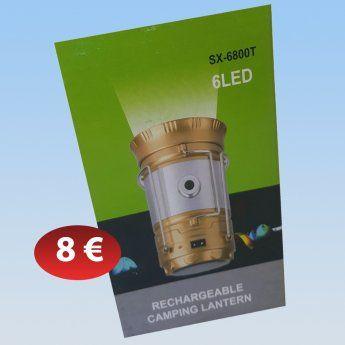 Επαναφορτιζόμενο Φανάρι LED 8,00 €