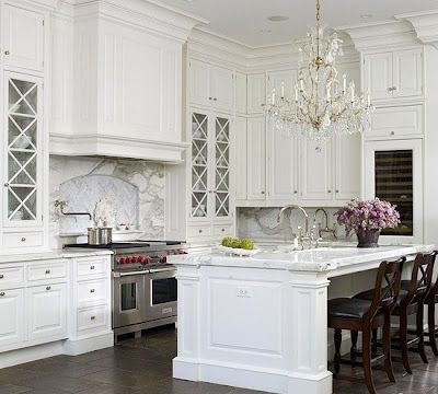 Classic Chic Home: Timeless Design:  Elegant White Kitchens