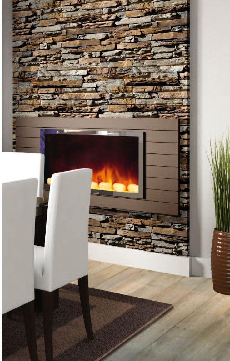Un salon plus authentique grâce à la brique de parement autour de la cheminée
