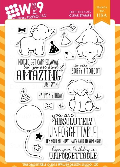 Wplus9 UNFORGETTABLE Clear Stamps CL-WP9UN zoom image