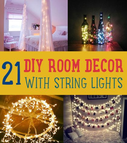 21 DIY Room Decor with String Lights |