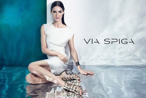 Hilary Rhoda for Via Spiga Spring Summer 2015