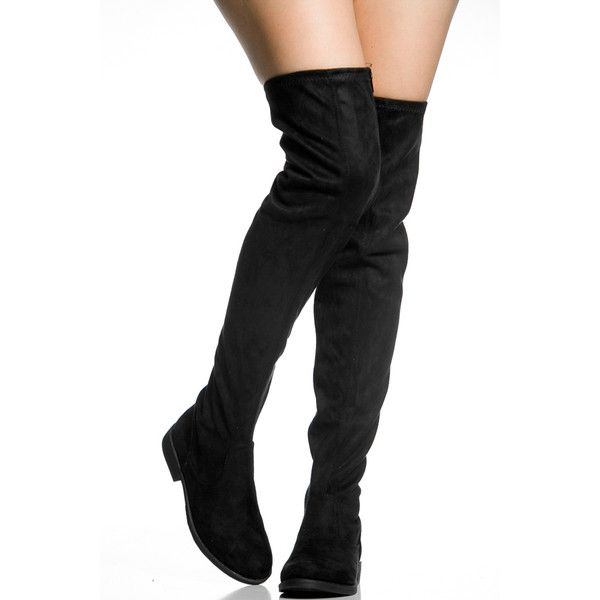 25  best ideas about Black Over Knee Boots on Pinterest | Knee ...