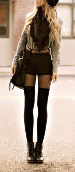 #fall #fashion / monochrome layers