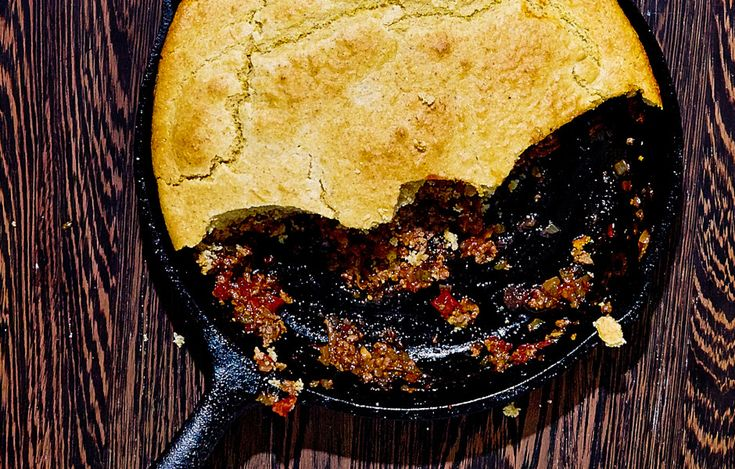 Could cornbread tamale pie—a quick and spicy chili topped with cornbread—be the greatest recipe of all time?