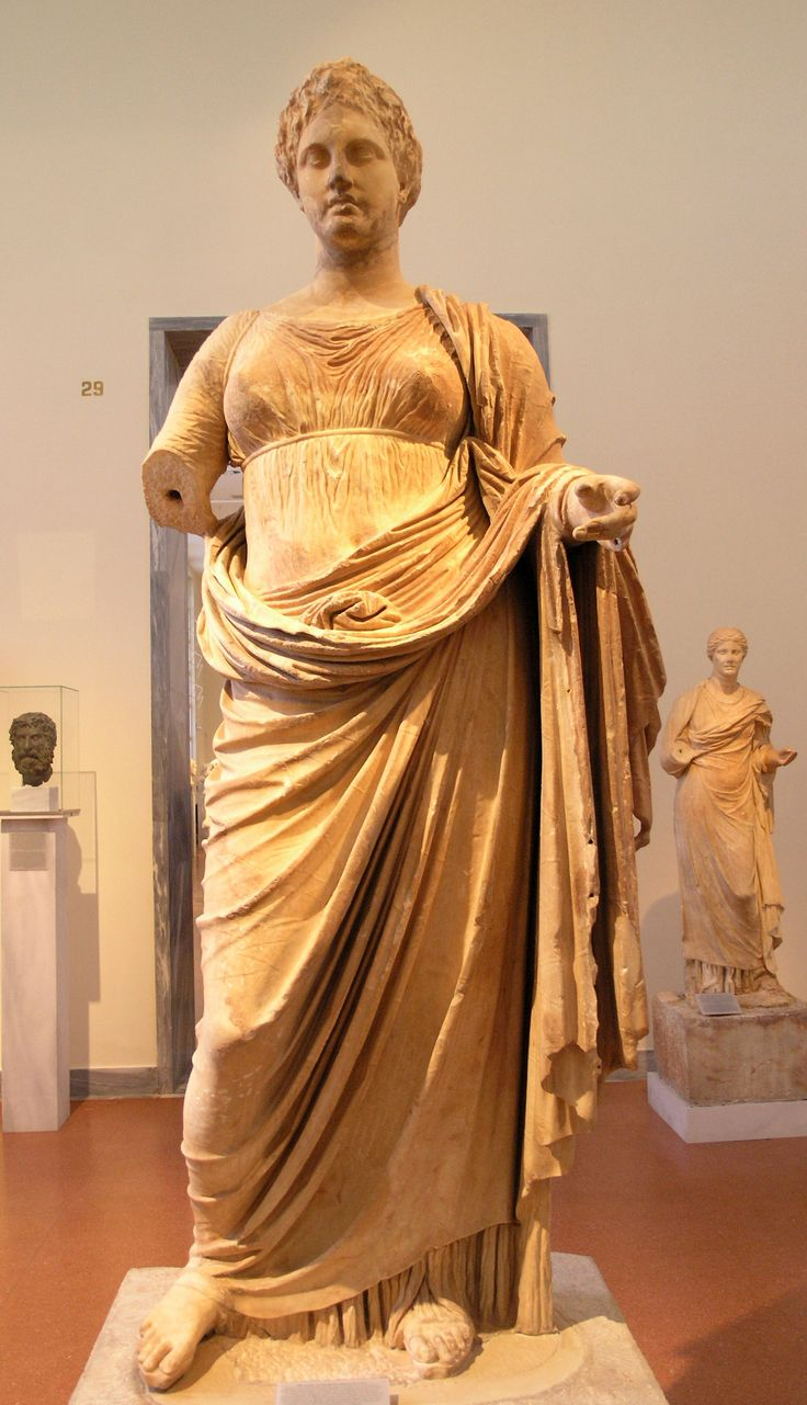 English: Chairestratos: Themis. Marble, c. 300 BC. Found in Rhamnonte, at the temple of Nemesis. Dedicated to Themis by Megacles. National Archaological Museum of Athens.