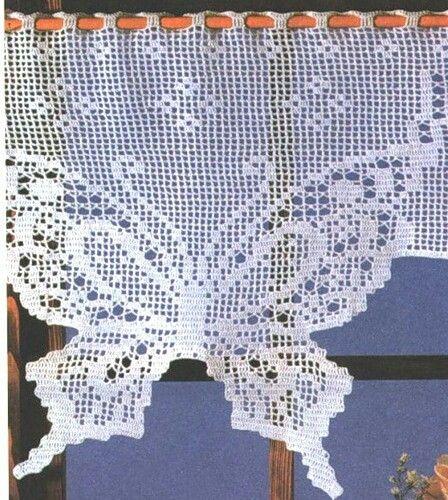 17 melhores imagens sobre cortinas en crochet no pinterest ...