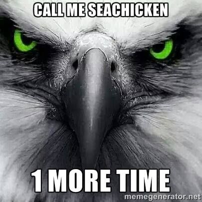 Great game yesterday! Sorry Packers, we're going back to the Superbowl!! Go Seahawks!!