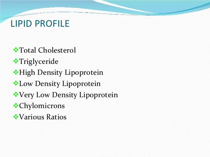 How do you interpret your lipid profile?