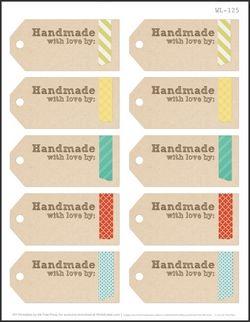 ces étiquettes seront parfaites pour vos créations artisanales en boutique... toutes ont des zones de texte qui vous permettront d'enregistrer (et sauvegarder) vos coordonnées pour les imprimer ensuite au fur et à mesure selon vos besoins....