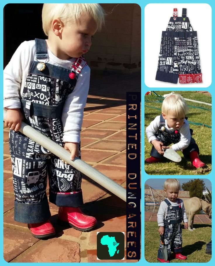 Girls & Boys Hand-printed Dungarees. Shop online at www.nastyandnice.co.za