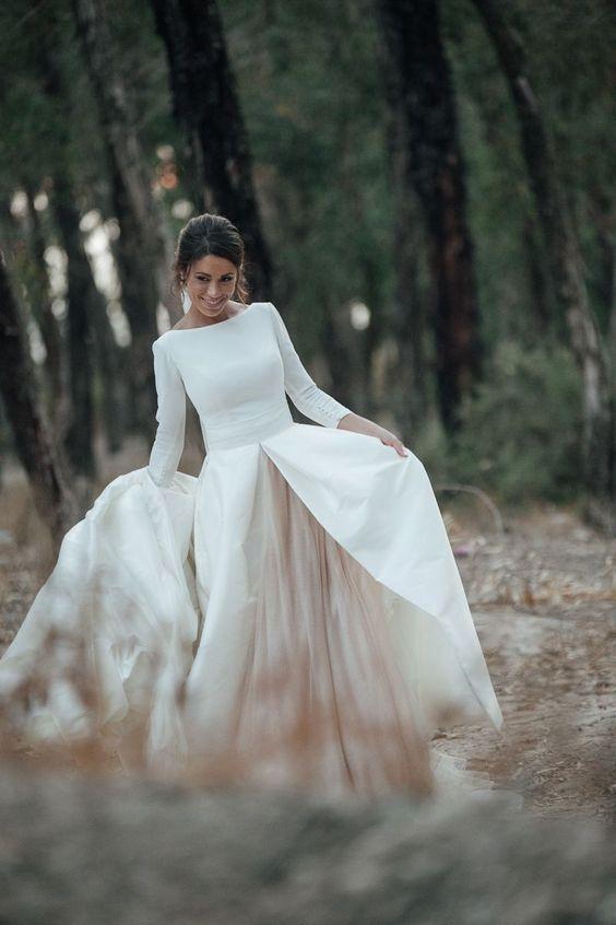 Svatebni Saty V Minimalistickem Stylu Svatebni Saty Wedding