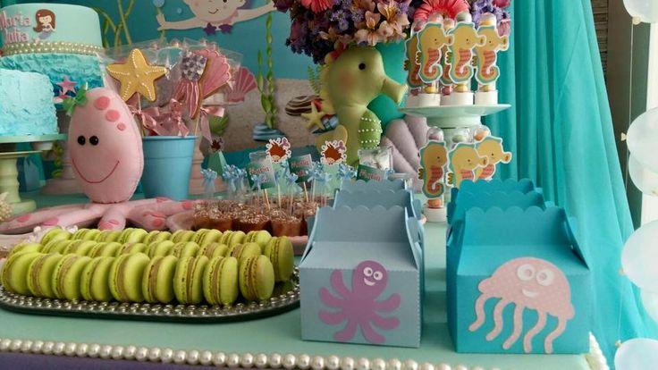 Olha que linda esta Festa Fundo do Mar!!Imagens Fru Fru & Cia.Lindas ideias e muita inspiração.Bjs, Fabíola Teles.Mais ideias lindas; Fru Fru & Cia.Facebook: Fru Fru & Cia....