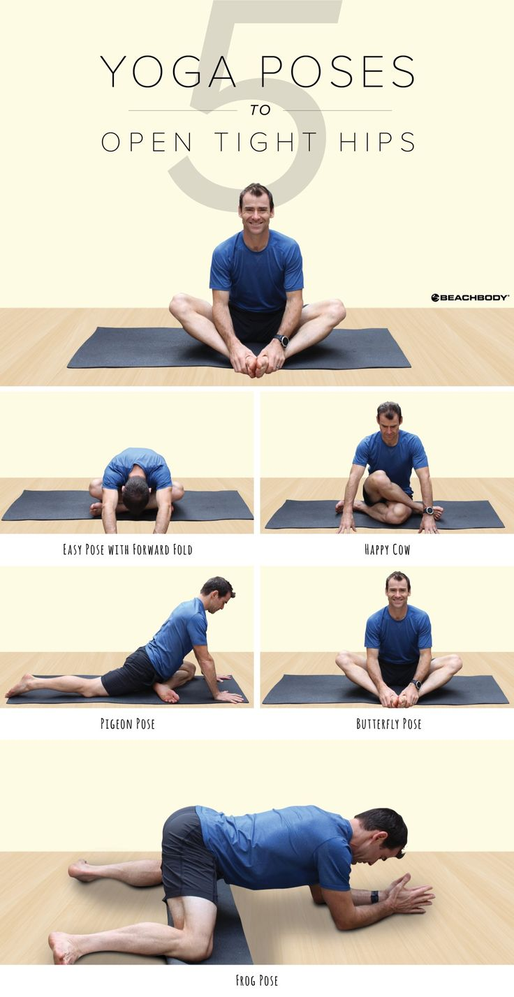 Suffering from tight hips? These 5 yoga poses will help loosen them and open them up so you can keep your hips healthy and mobile. // stretches // stretching // hip moves // loose hips // yogi tips // fitness // exercise // workouts // 3 Week Yoga Retreat // Beachbody // BeachbodyBlog.com