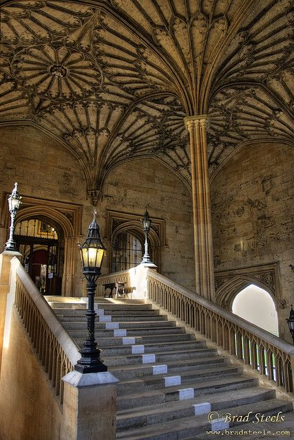 Dining Hall Stairs, Christ Church College, Oxford via flickr