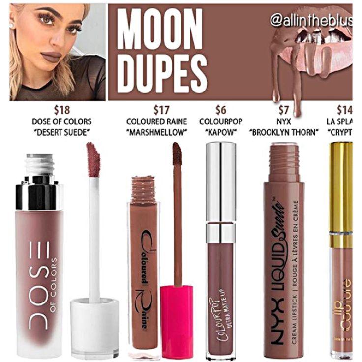 Kylie Jenner lip kit dupes for Moon