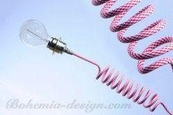 Tvarovatelný textilní kabel, 2x0,75mm, 1 m