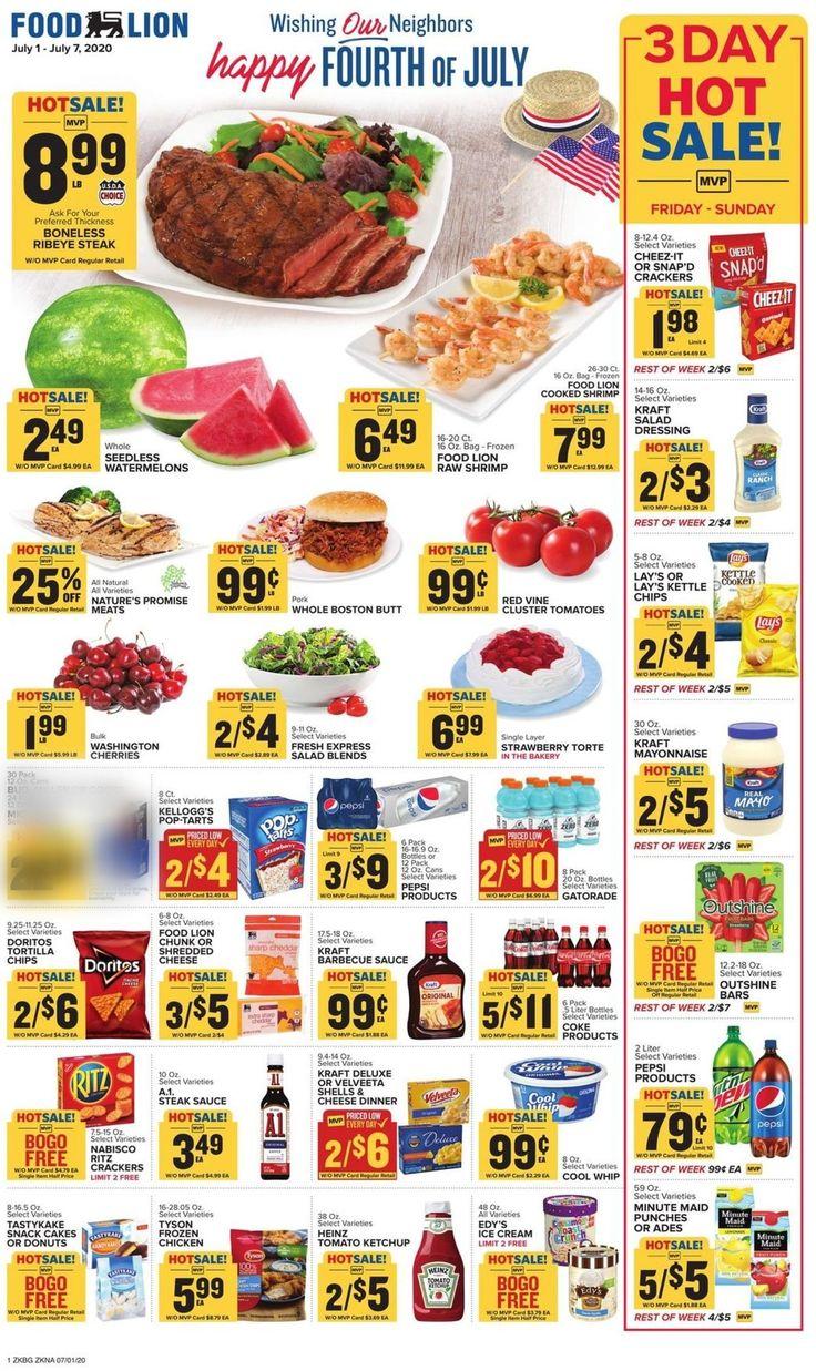 Food lion weekly ad circular valid 070107072020 in