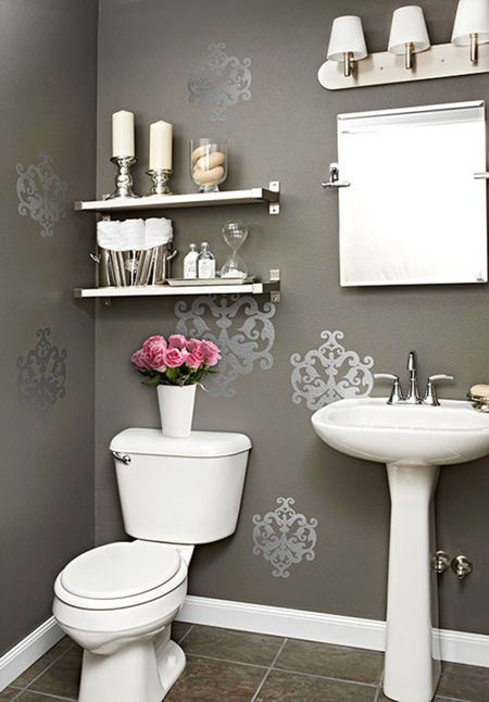 5 Quick Ways to Add Color to Your Bath Room; for more decor tips for bathrooms and more, check out http://whitneyjdecor.com/2013/06/5-quick-ways-to-add-color-to-your-bath-room/