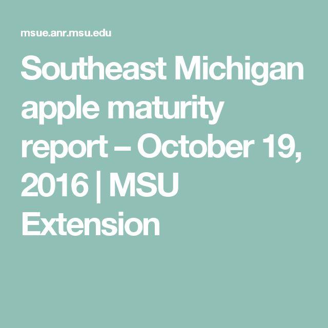 Southeast Michigan apple maturity report – October 19, 2016   MSU Extension