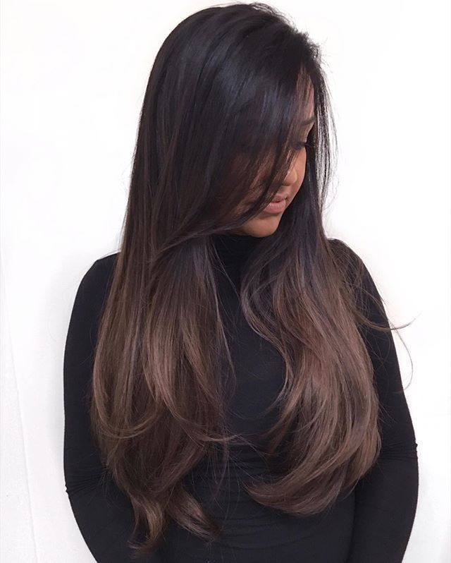 Inspo Balayage Espresso Medium Dark Brown With Images Hair