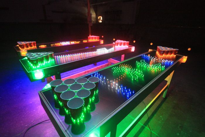 Must have one of these one day or play on one. Penumbra™ Interactive LED Beer Pong Table by Penumbra™ Tables - Mark Alway — Kickstarter