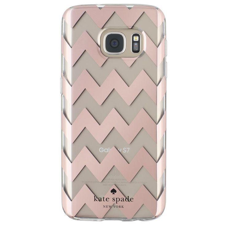 Samsung Galaxy S7 Edge Kate Spade Rose Gold Chevron Case