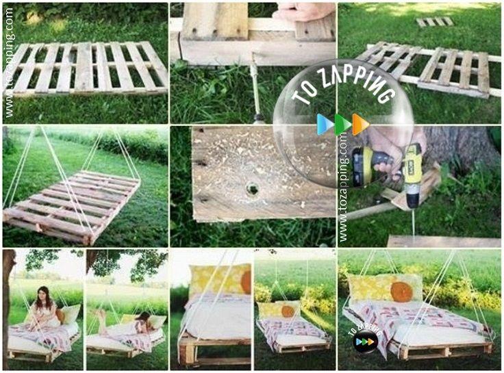 Las 25 mejores ideas sobre camas columpio al aire libre - Columpios para jardin ...