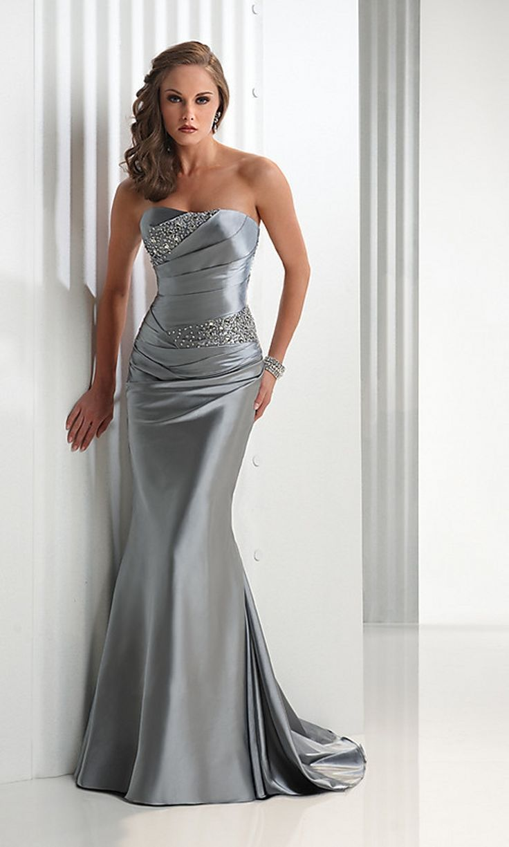 Hot-Sale-Silver-font-b-Grey-b-font-Taffeta-Mermaid-Evening-font-b-Dresses-
