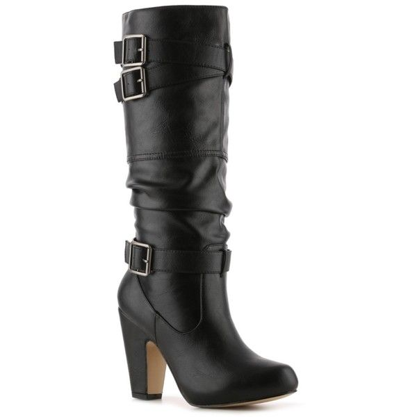 Madden Girl Sherlock Wide Calf Boot ($60) ❤ liked on Polyvore featuring shoes, boots, botas, sapatos, wide calf boots, wide calf mid calf boots, madden girl boots, madden girl and wide mid calf boots