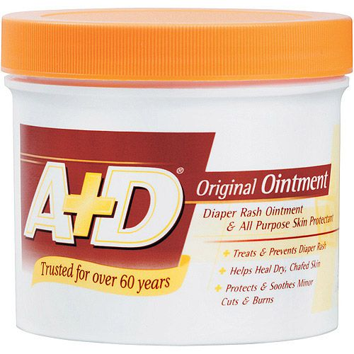 A Ointment. This stuff is the best! Works great for diaper rash treatment and prevention, and is AWESOME for keeping your nose from getting raw when you have a cold and are constantly blowing it. :)