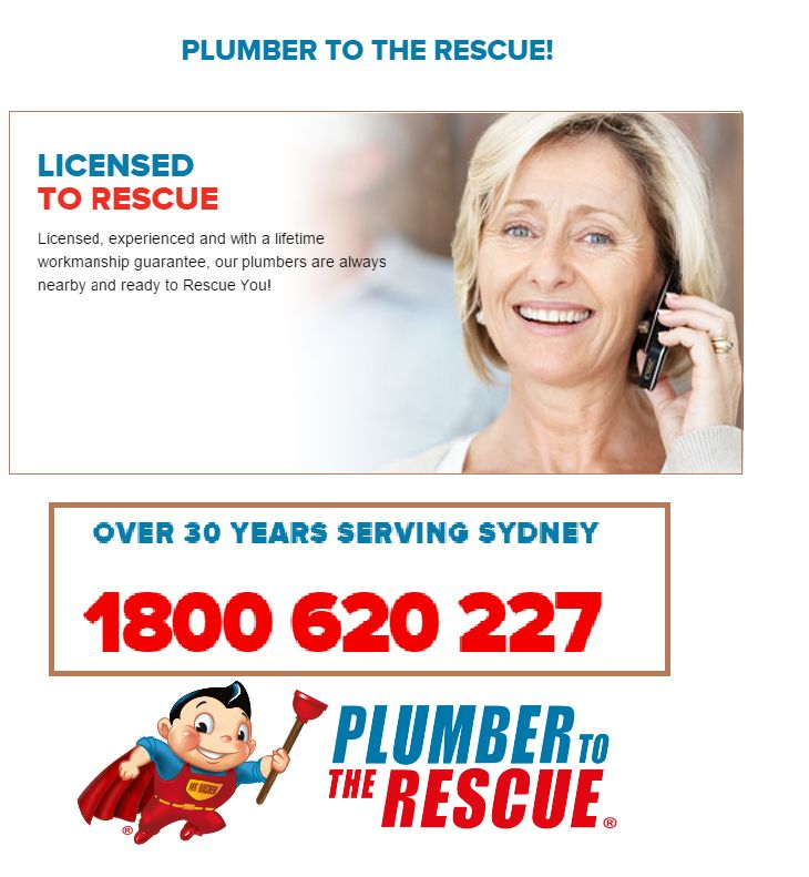 If you are looking for an experienced and licensed plumber in Sydney, then look no further than Plumber to the Rescue. Call us 1300 360 335.