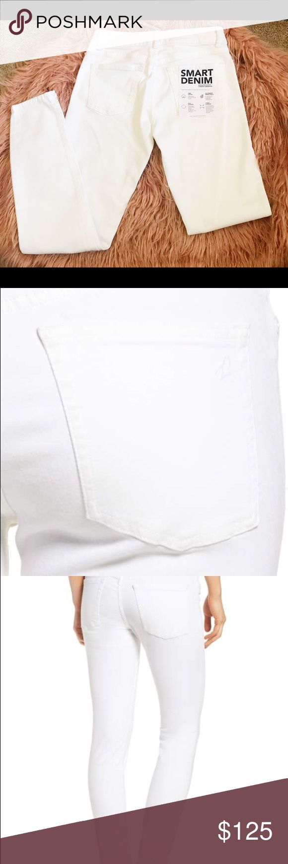 White Denim Women's jeans DL1961 Brand new beautiful white denim DL1961 women jeans! Pure high quality cotton, stretchy white jeans allowing you to comfortably move around in style and best of all these are eco friendly! DL1961 Jeans Skinny