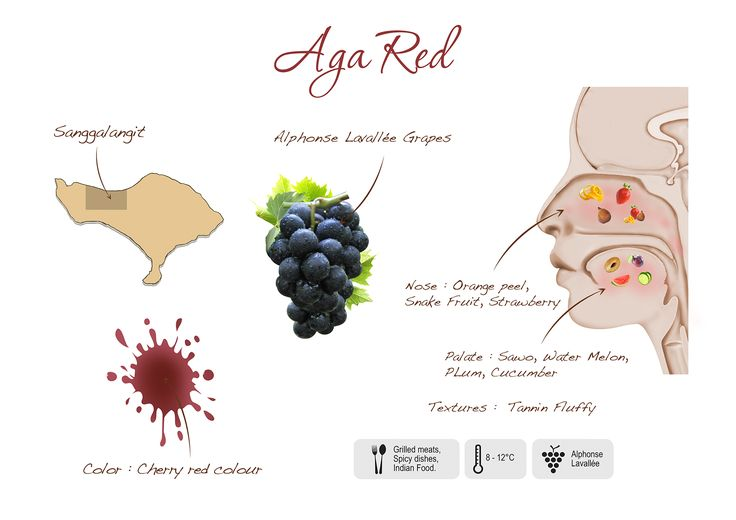 Aga Red, visual presentation