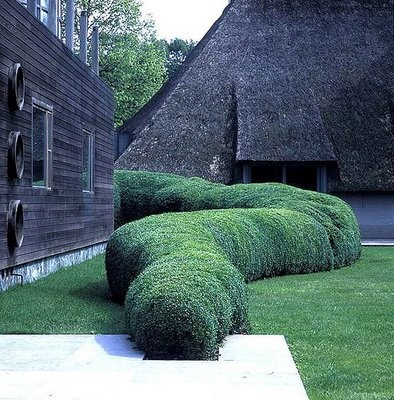 Cool, contemporary, and yet not out of place in a English garden.