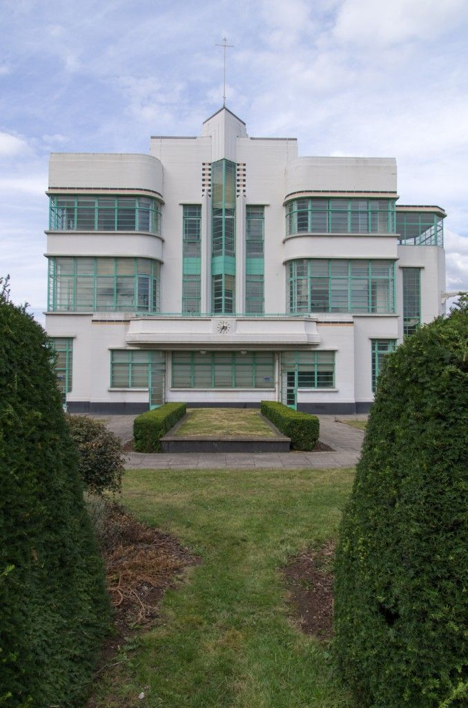 One of the wings of London's art deco Hoover Building at Perivale