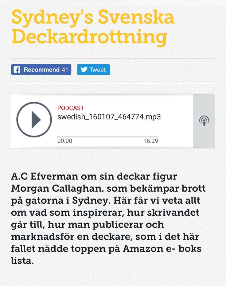 Podcast. Sydneys svenska deckardrottning - radio intervju med svenska författaren A.C. Efverman, av SBS radio i Sydney. #deckare #böcker #läsning #författare #författarintervju #australien #svenska #deckardrottning #sydney