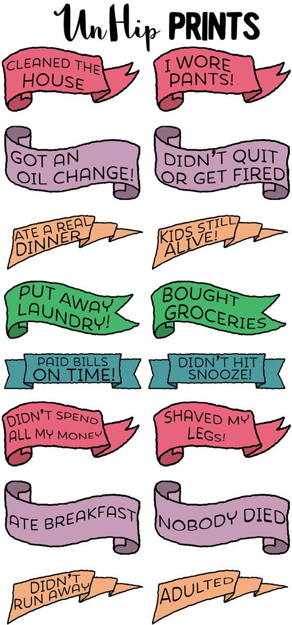 Adult Planner Stickers Motivational planner by UnHipPrints on Etsy