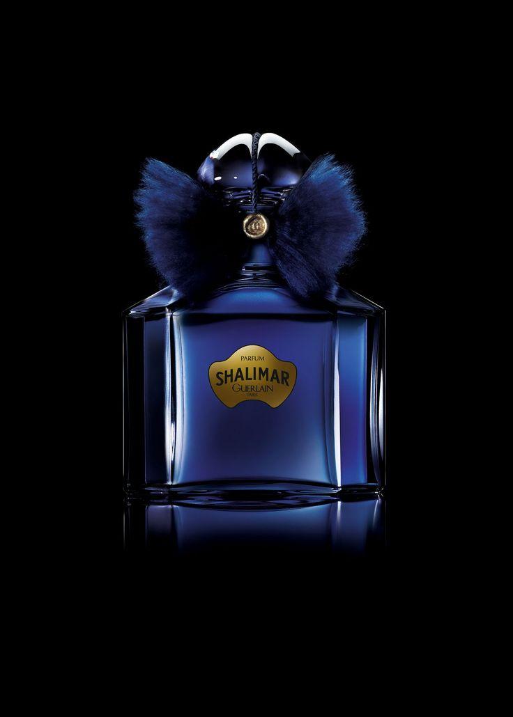 Guerlain Shalimar in a limited edition blue quadrilobe bottle