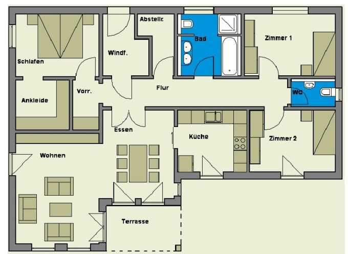 bungalow grundris pinterest bungalows. Black Bedroom Furniture Sets. Home Design Ideas