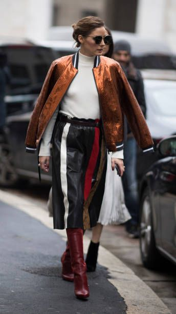 9f25064ef Olivia Palermo seen after the Salvatore Ferragamo Fashion Show in the  streets of Milan during Milan Fashion Week Fall/Winter 2018/19 on February  24.