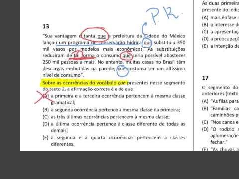 Prova de Português do TJRJ comentada parte 4