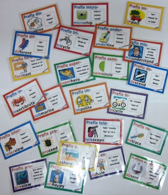 Prefix-Cards-with-Definitions-Illustrations-and-Examples $: Crafty Teaching, Definitions Illustrations, Schools Ideas Literacy, Illustrations Prefixes, Words Work, Vocabulary Wordwork, Cards Games, Prefixes Suffixes, Prefixes Cards