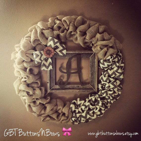 Love this with the letter D!  Hey, I found this really awesome Etsy listing at https://www.etsy.com/listing/236799489/front-door-monogram-wreathfront-door