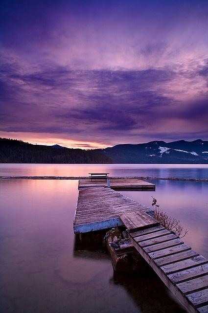 Lake Cowichan Dusk by Snorri Gunnarsson, via Flickr