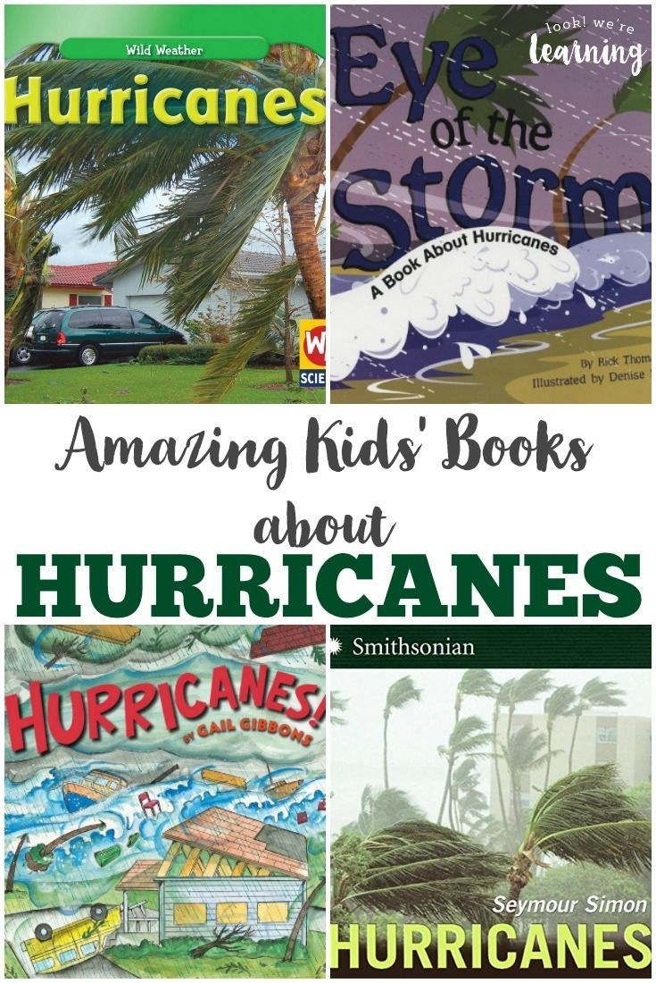 Get to know extreme summer weather with these amazing kids' books about hurricanes! via @lookwerelearn