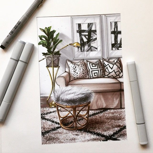 #design #interior #sketch #marker…magnificent…