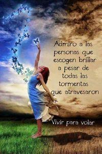 〽️ Admiro a las personas que escogen brillar a pesar de todas las tormentas que atravesaron...