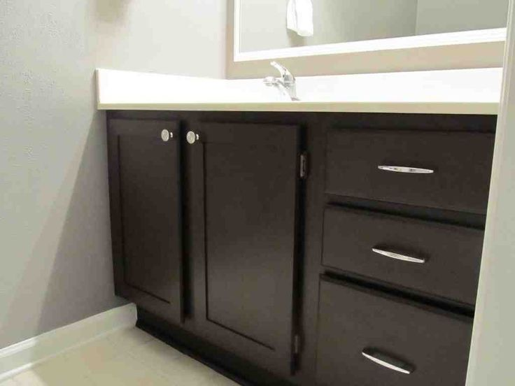 1000 ideas about black cabinets bathroom on pinterest - Painting bathroom cabinets black ...